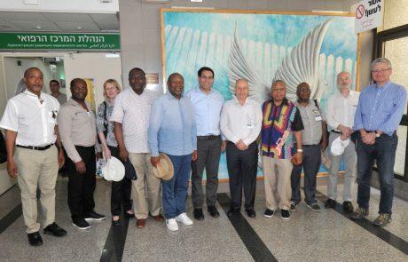 """משלחת שגרירים באו""""ם בראשות השגריר הישראלי, ביקרה במרכז הרפואי לגליל"""