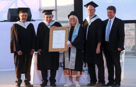 """אוניברסיטת אריאל העניקה תואר ד""""ר לשם כבוד לנשיא המדינה ראובן ריבלין ולד""""ר מרים אדלסון"""